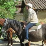 Droit sur la selle débourrage du cheval