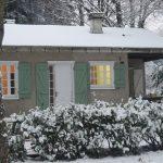 Gîte chalet de Cros en hiver